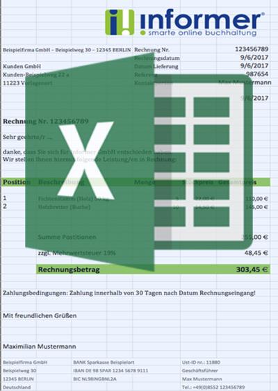 Muster Excel Rechnung