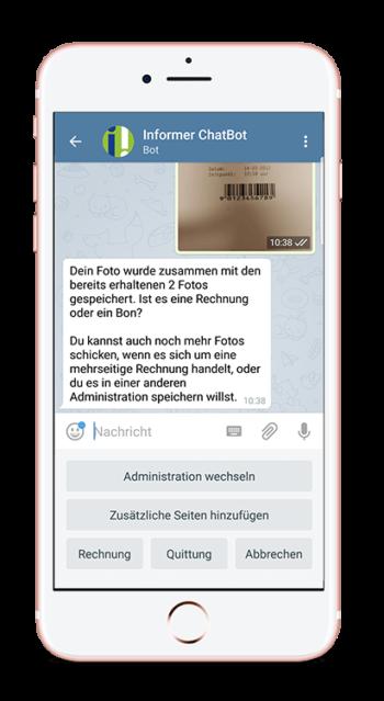 InformerOne Chatbot für die Buchhaltung