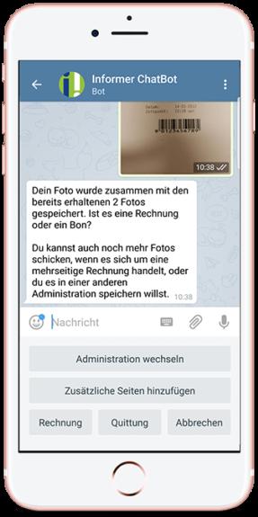 InformerOnline Chatbot für die Buchhaltung