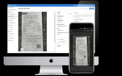 Rechnung Hochladen von Handy zu PC