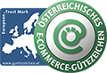 Wir sind mit dem Österreichischen E-Commerce Gütezeichen zertifiziert!